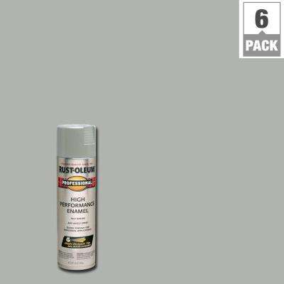 15 oz. High Performance Enamel Gloss Light Machine Gray Spray Paint (6-Pack)