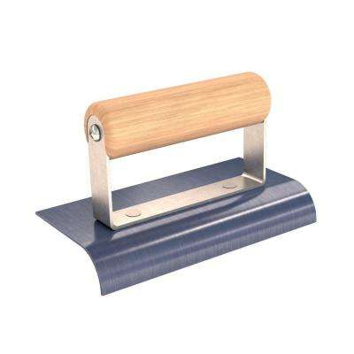 6 in. x 3 in. Blue Steel Edger with 3/4 in. Radius and Wood Handle