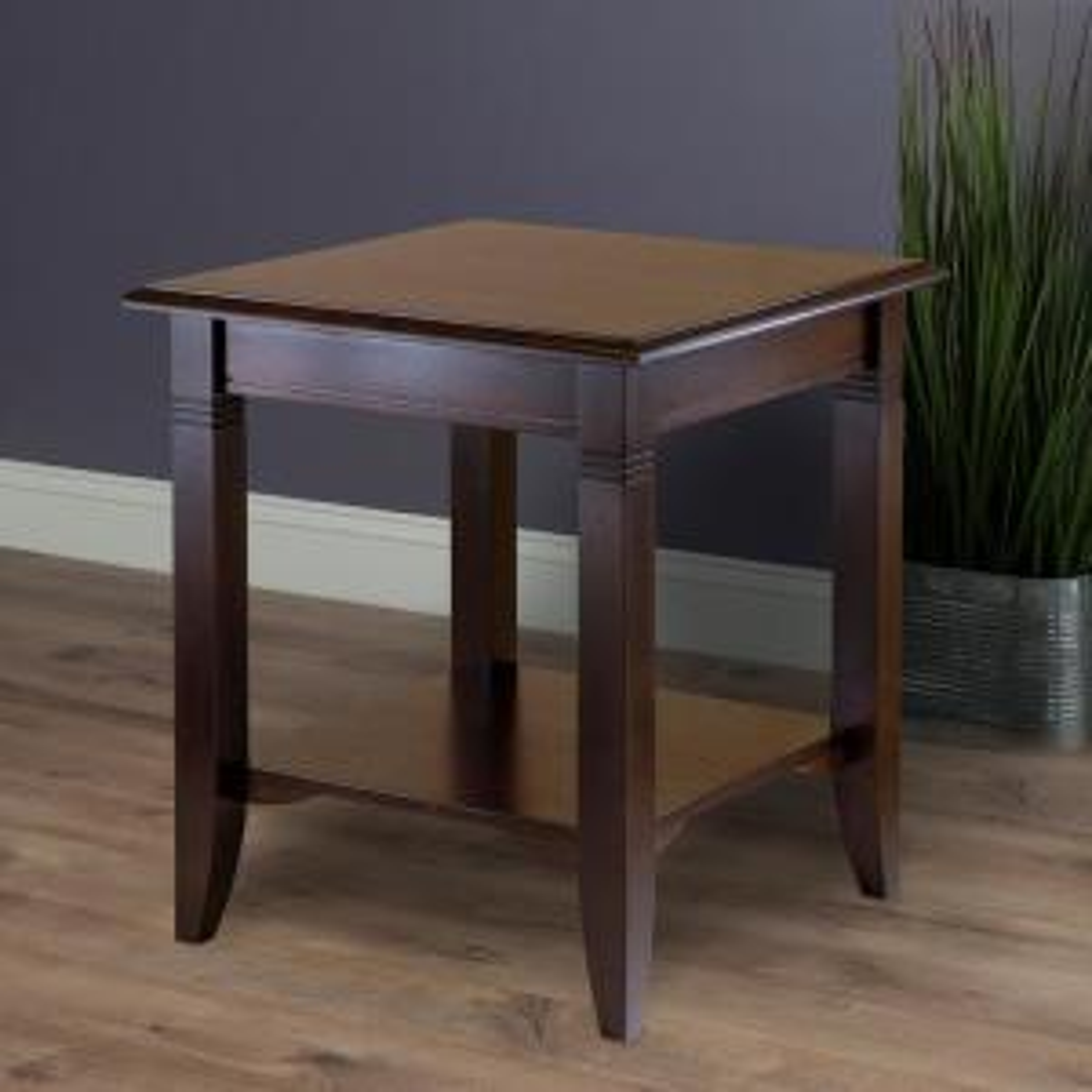 3 Winsome Wood Nolan Cuccino End Table