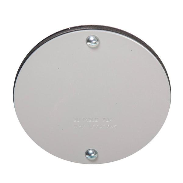 Bell 4 In Round Weatherproof Blank Cover 5374 0 The Home Depot
