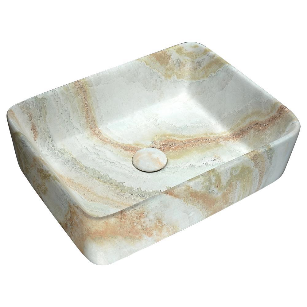 Ceramic Vessel Sink in Marbled Earth