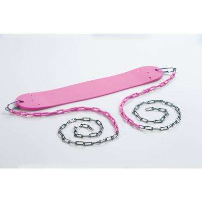 Standard Swing Seat with Chains- Pink
