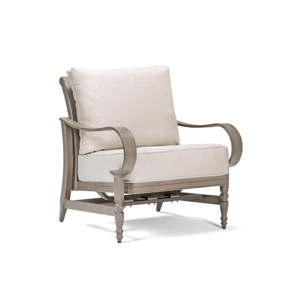 Saylor Action Wicker Outdoor Lounge Chair with Outdura Remy Sand Cushion