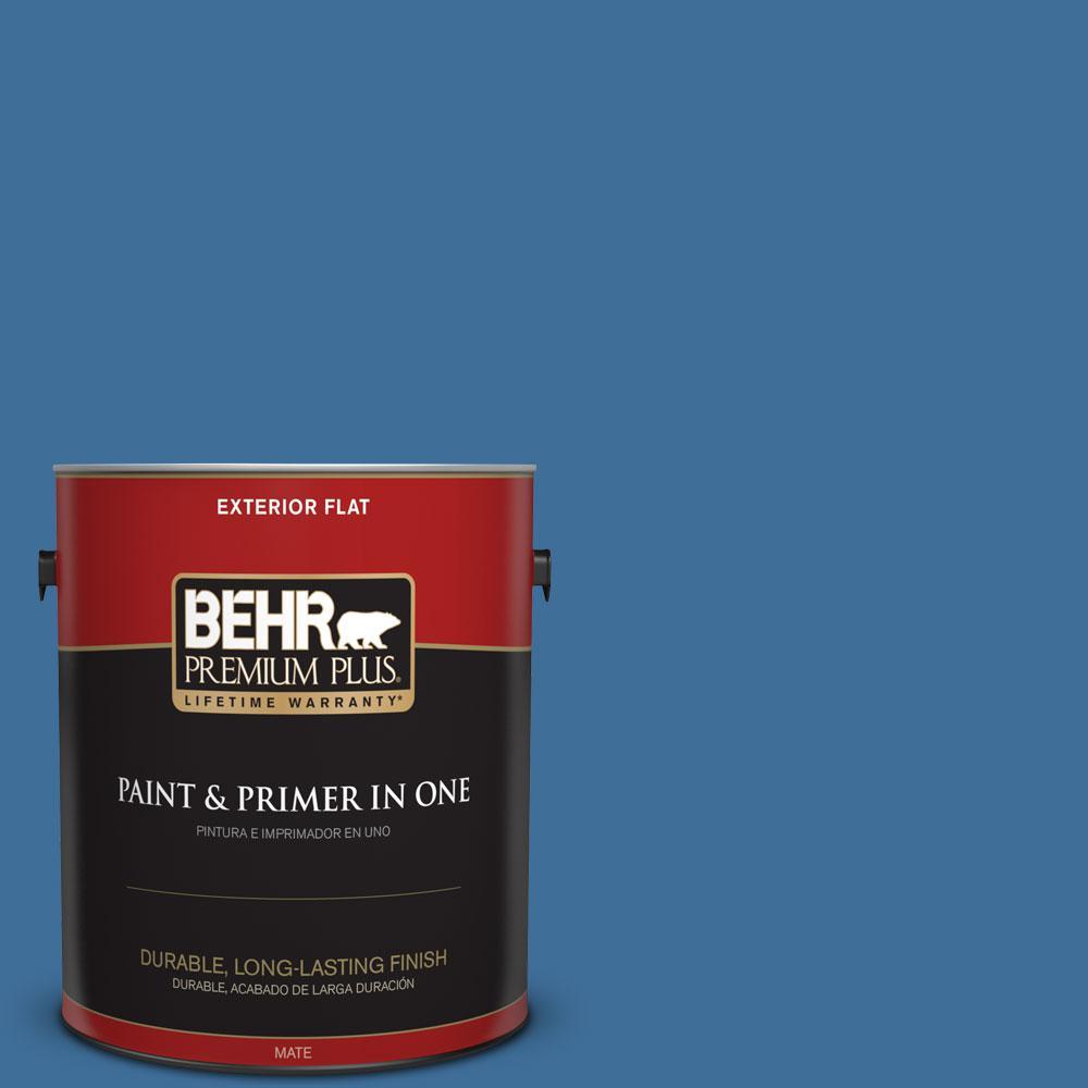 BEHR Premium Plus 1-gal. #M520-6 National Anthem Flat Exterior Paint