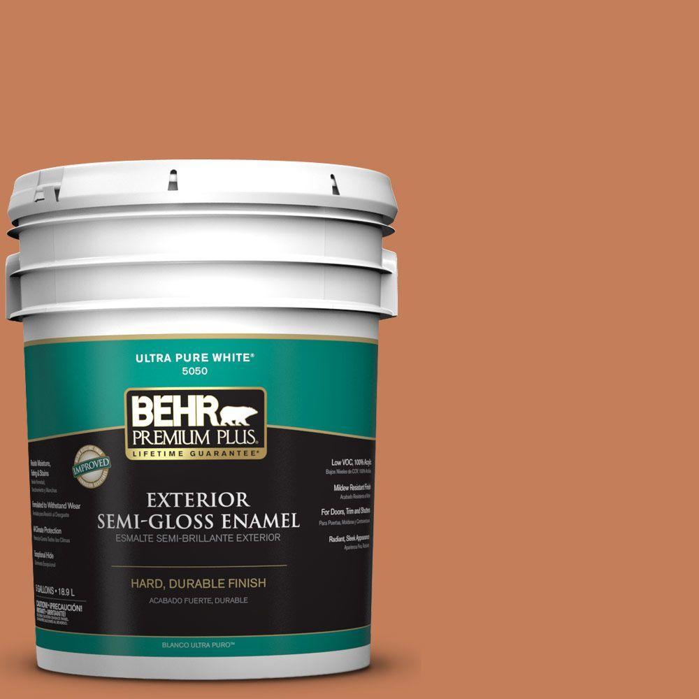 5-gal. #M210-6 Orange Liqueur Semi-Gloss Enamel Exterior Paint