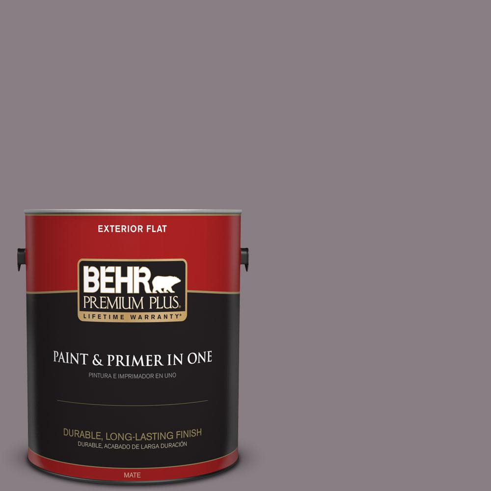 1-gal. #N570-4 Classy Plum Flat Exterior Paint