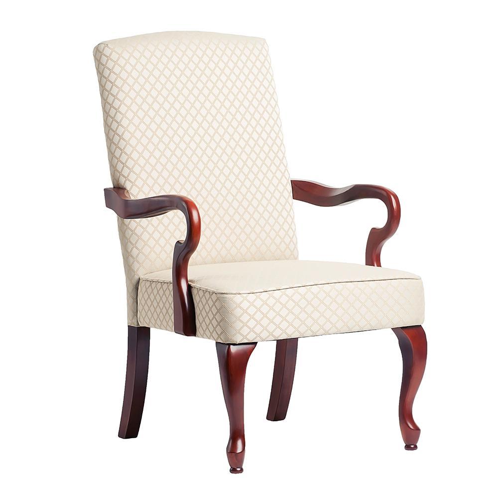Derby Beige Gooseneck Arm Chair