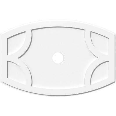 40 in. W x 26-5/8 in. H x 4 in. ID x 1 in. P Kailey Architectural Grade PVC Contemporary Ceiling Medallion