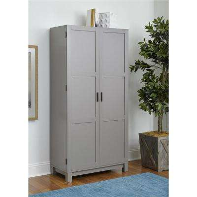 Carver 64 in. Gray/Sonoma Oak Storage Cabinet