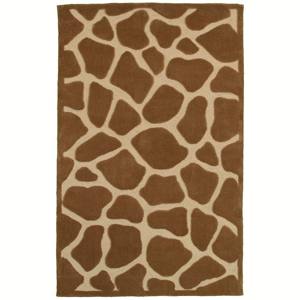 LR Resources Fashion Natural 5 ft. x 7 ft. 9 in. Luxurious Indoor Area Rug
