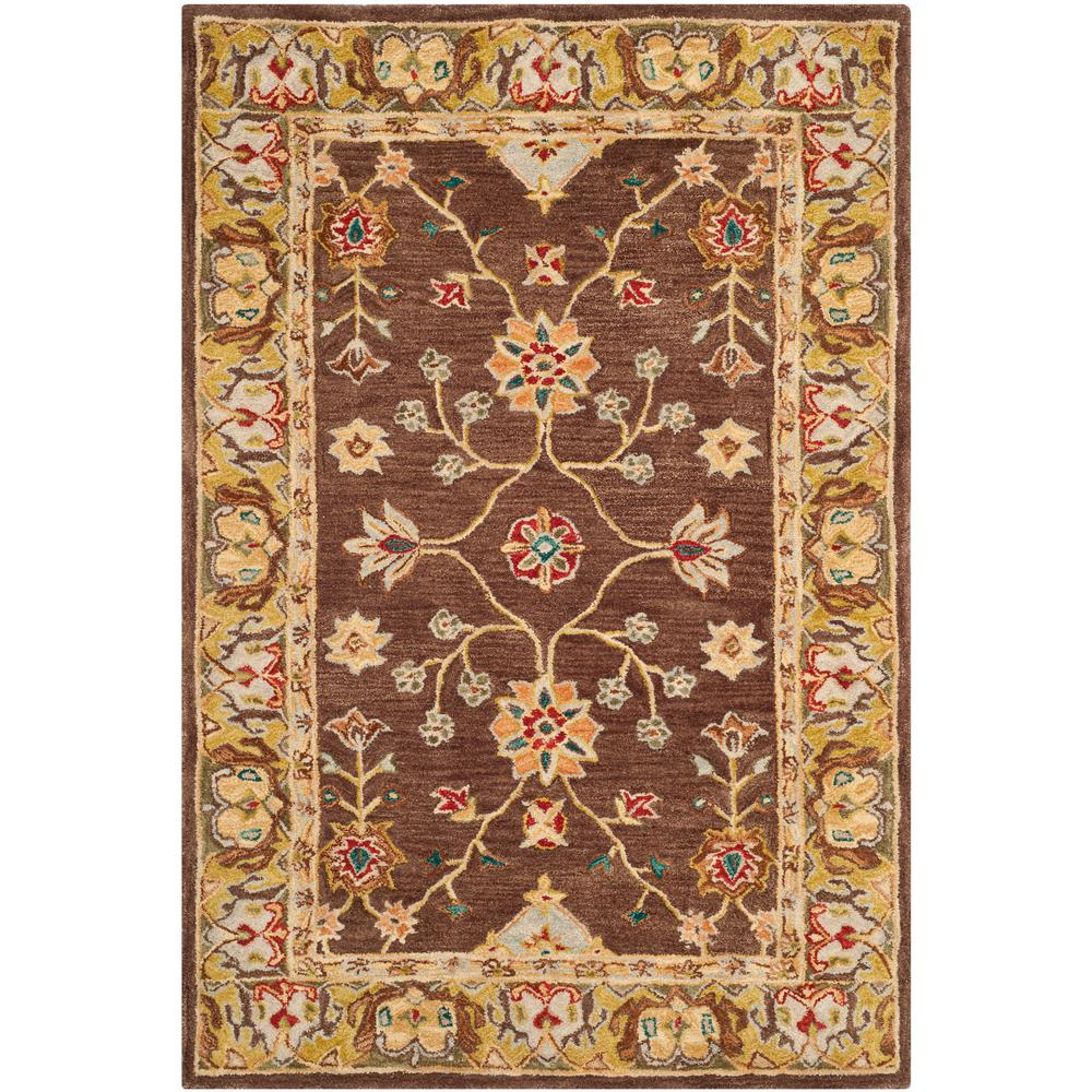 Anatolia Brown/Gold 5 ft. x 8 ft. Area Rug