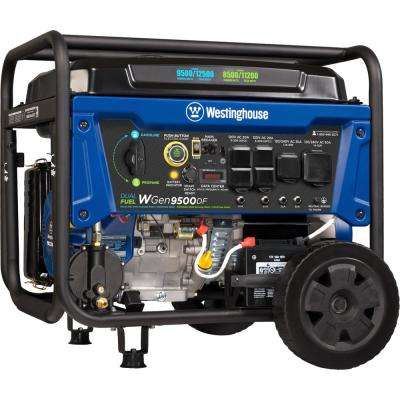 12,500/9,500-Watt Heavy-Duty Dual Fuel Powered Transfer Switch Ready Portable Generator with Electric and Remote Start