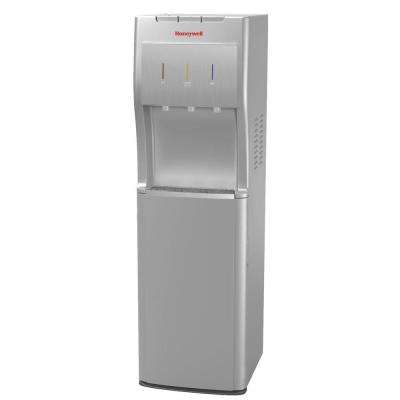 Freestanding Bottom-Loading Hot/Room/Cold Water Dispenser with Superior Water Pump in Silver