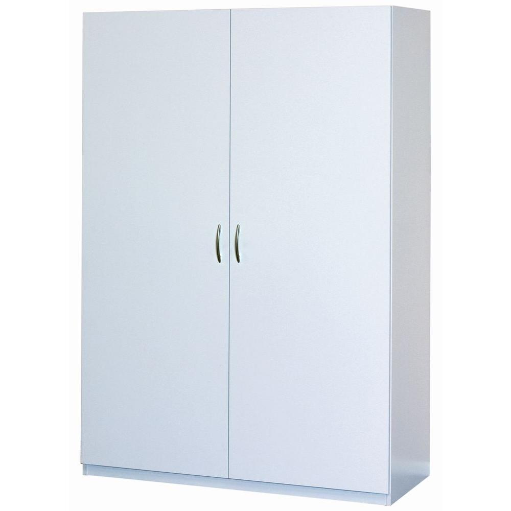ClosetMaid 71.75 in. H x 48 in. W x 20.5 in. D Multi-Purpose Wardrobe  Freestanding Cabinet in White