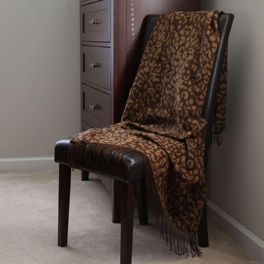 Gold Jacquard Polyester Throw Blanket