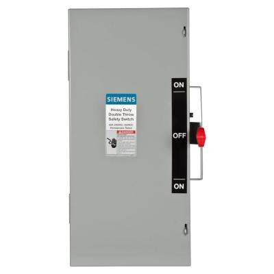 Double Throw 60 Amp 240-Volt 2-Pole Indoor Non-Fusible Safety Switch