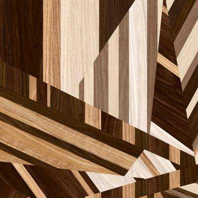 8 in. x 10 in. Laminate Sheet in Newport Marquetry with Virtual Design Textured Gloss Finish