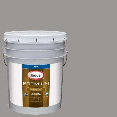 5-gal. #HDGCN51U Stone Grey Satin Latex Exterior Paint