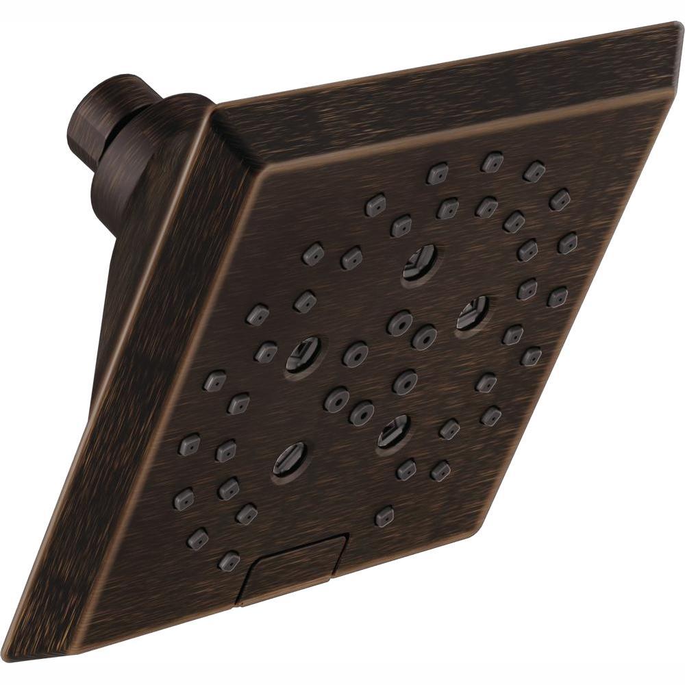 Pivotal 5-Spray H2OKinetic 5.81 in. Fixed Shower Head in Venetian Bronze