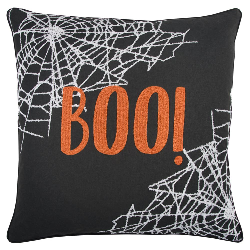Halloween BOO! 20 in. x 20 in. Decorative Filled Pillow