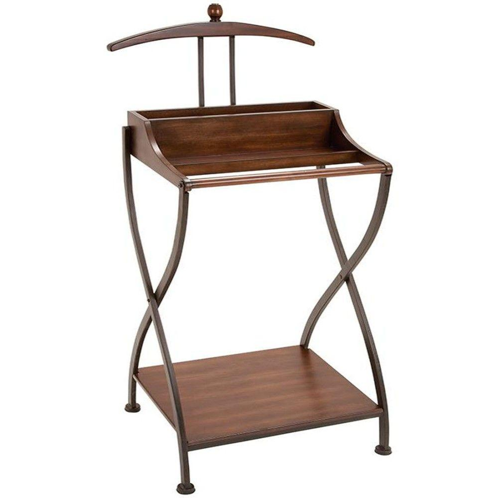 Home Decorators Collection Jeeves 49.25 in. H Brown Valet Stand Organizer
