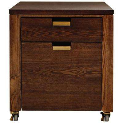Riley Warm Chestnut 2 Drawer File Cabinet