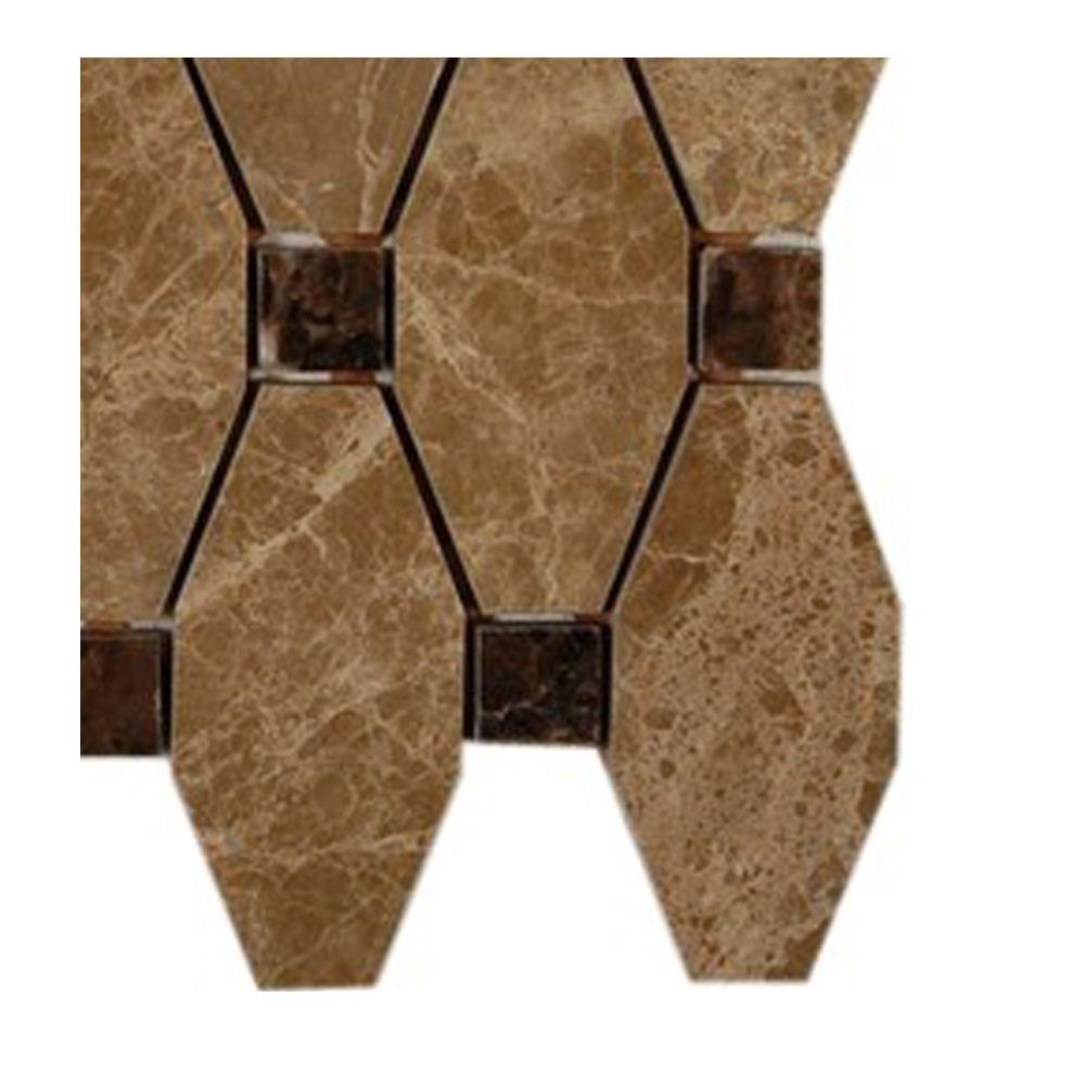 Artois Hexagon Emperador Marble Mosaic Floor and Wall Tile - 3