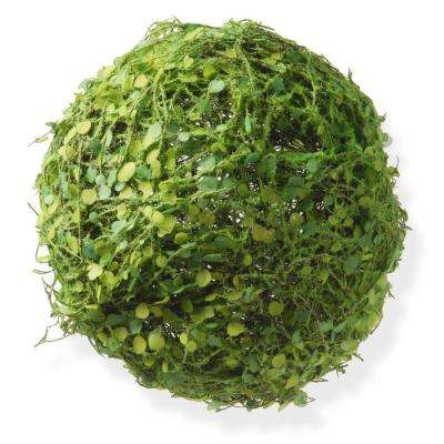 8 in. Ball with Moss and Mini Leaves
