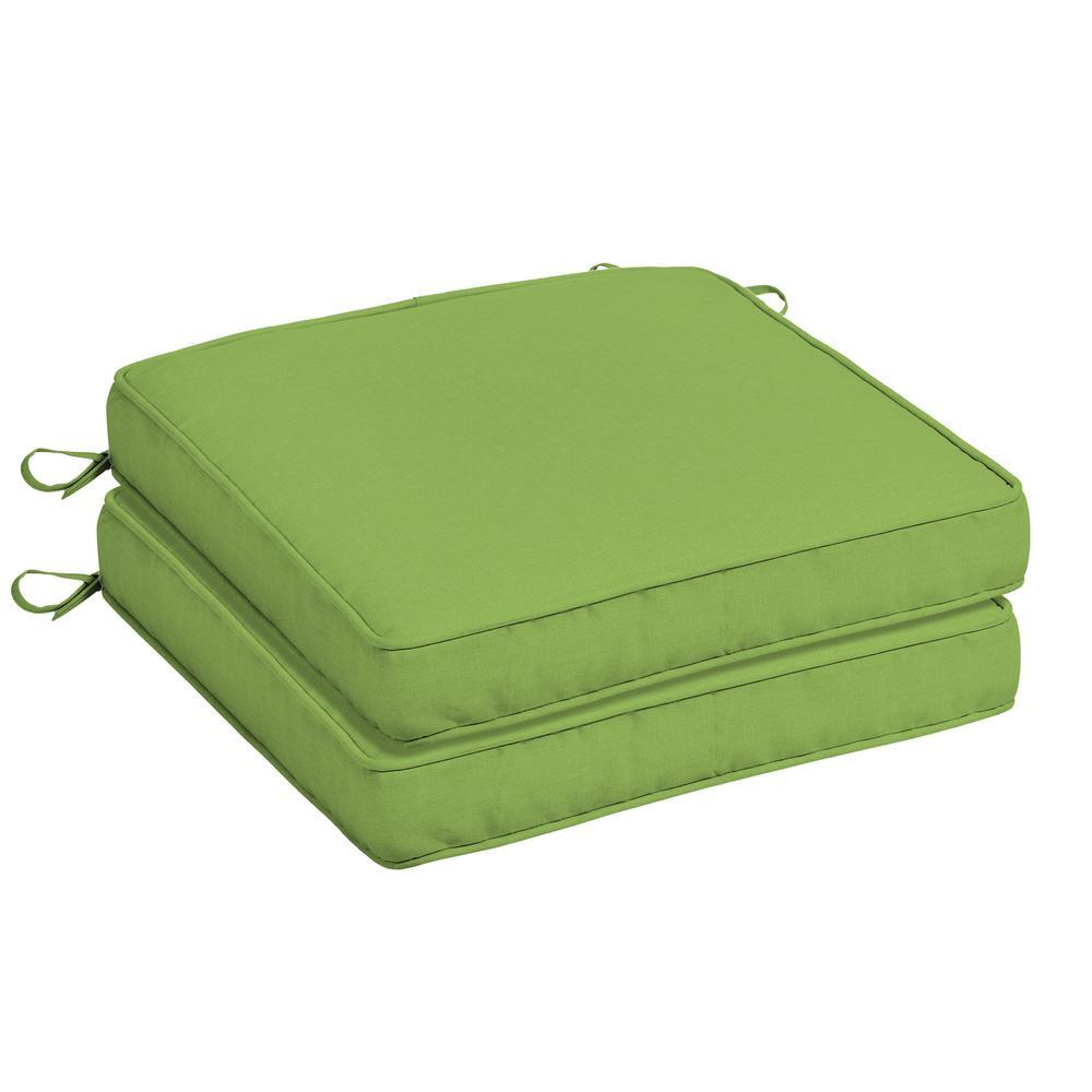 20 x 20 Sunbrella Canvas Gingko Outdoor Chair Cushion (2-Pack)
