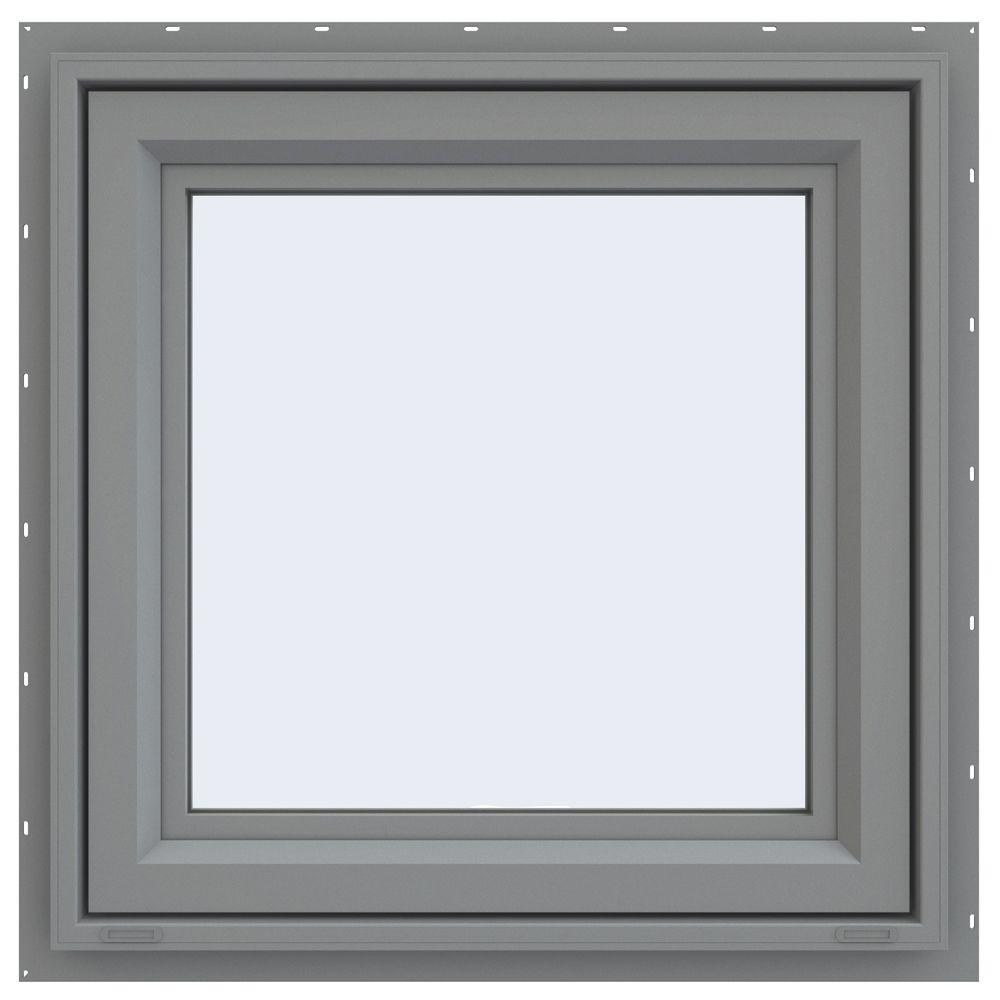 23.5 in. x 23.5 in. V-4500 Series Awning Vinyl Window -