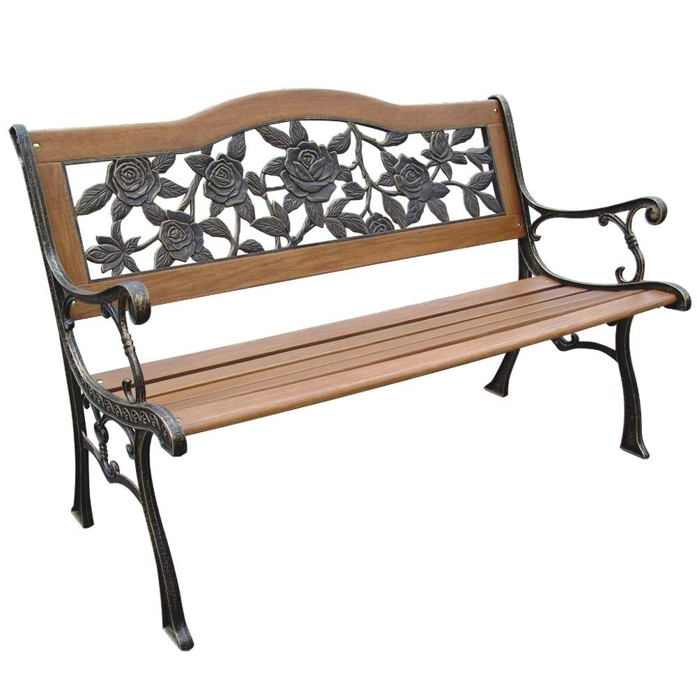Parkland Heritage Rose Resin Back Patio Park Bench