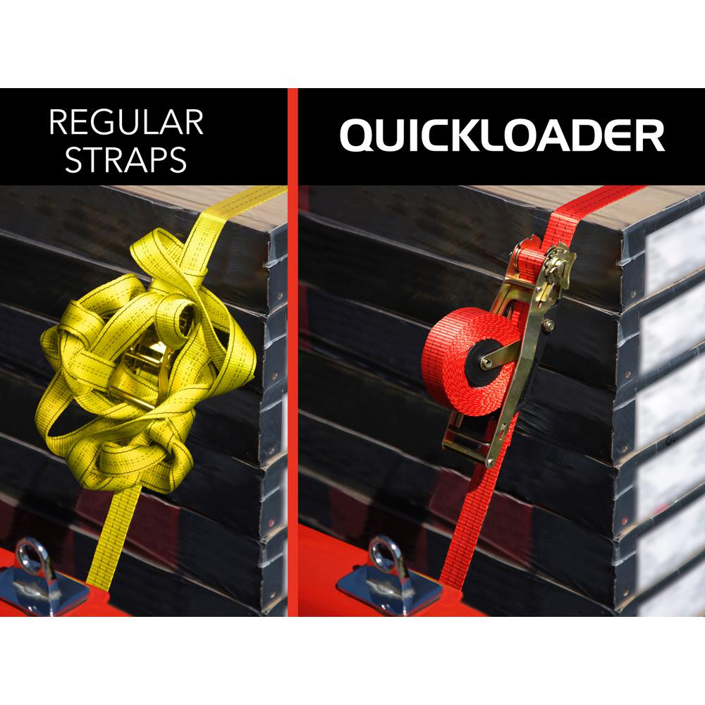 Quickloader Retractable Ratchet Tie Down Strap 4500 Lbs Ql450003 The Home Depot