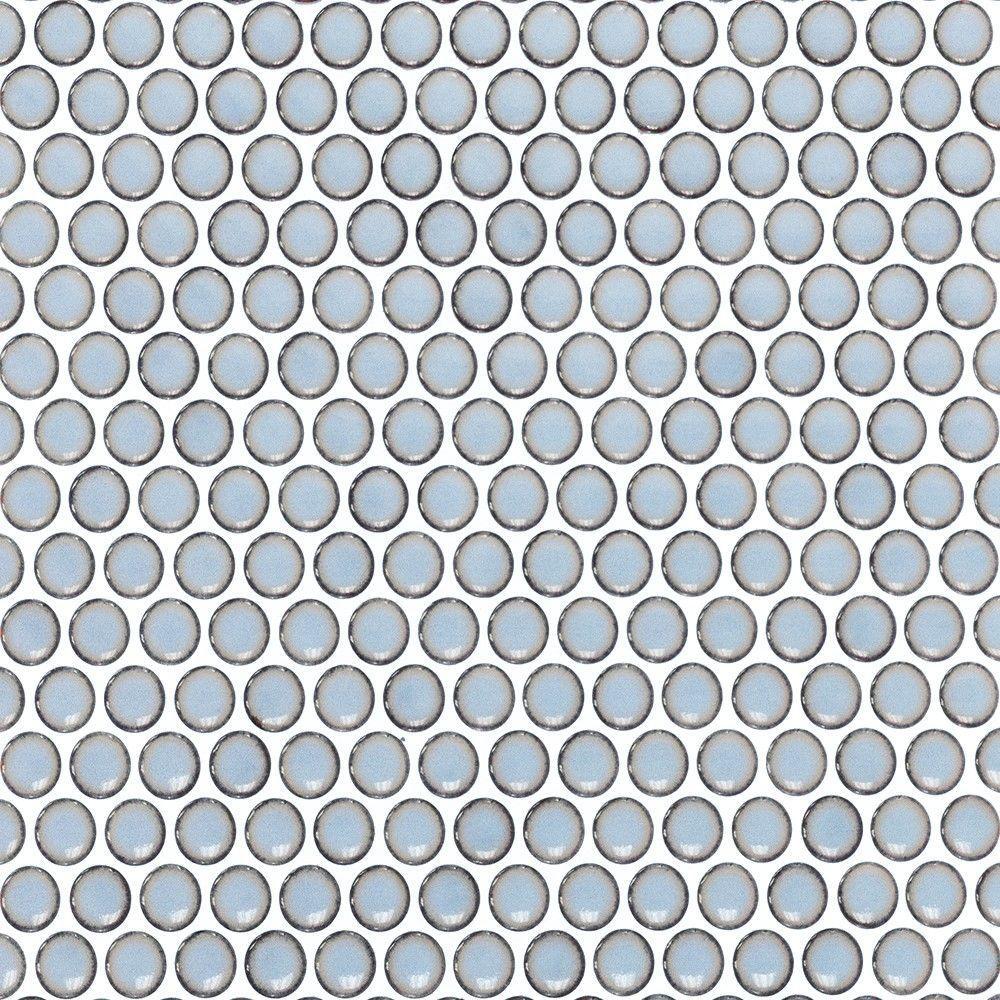 Splashback Tile Contempo Blue Gray Brick Pattern Glass Mosaic Floor ...