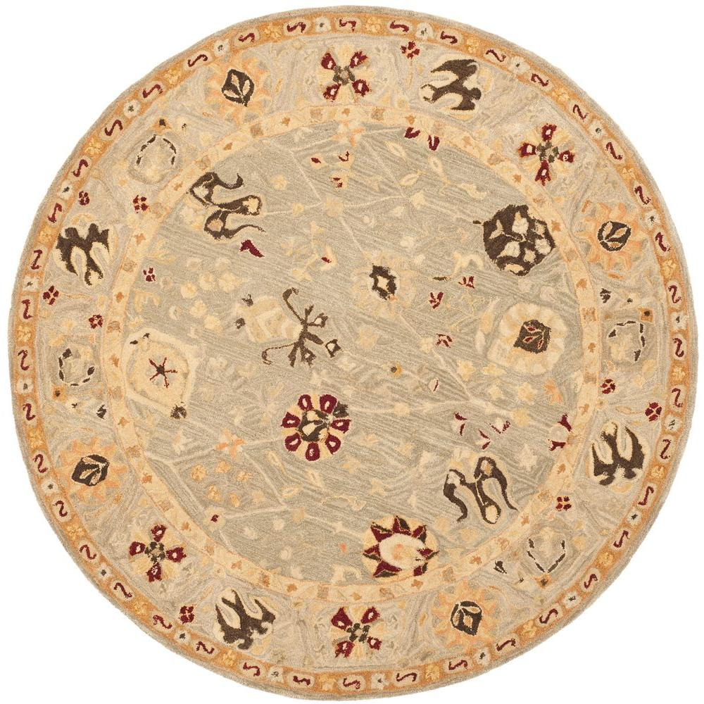 Safavieh Anatolia Grey Blue Mint 6 Ft X Round Area Rug