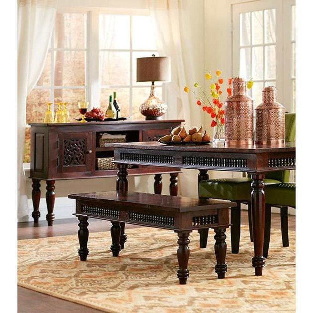 Home Decorators Collection Maharaja Walnut Wood Dining Bench