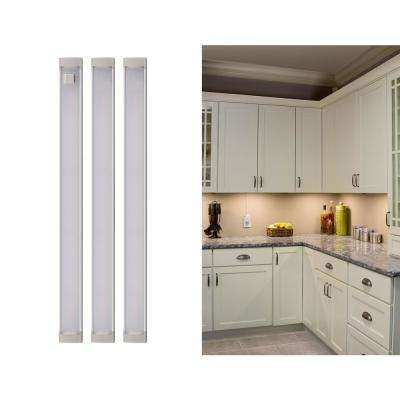 Led warm white 2700k dimmable 3 bar under cabinet lights
