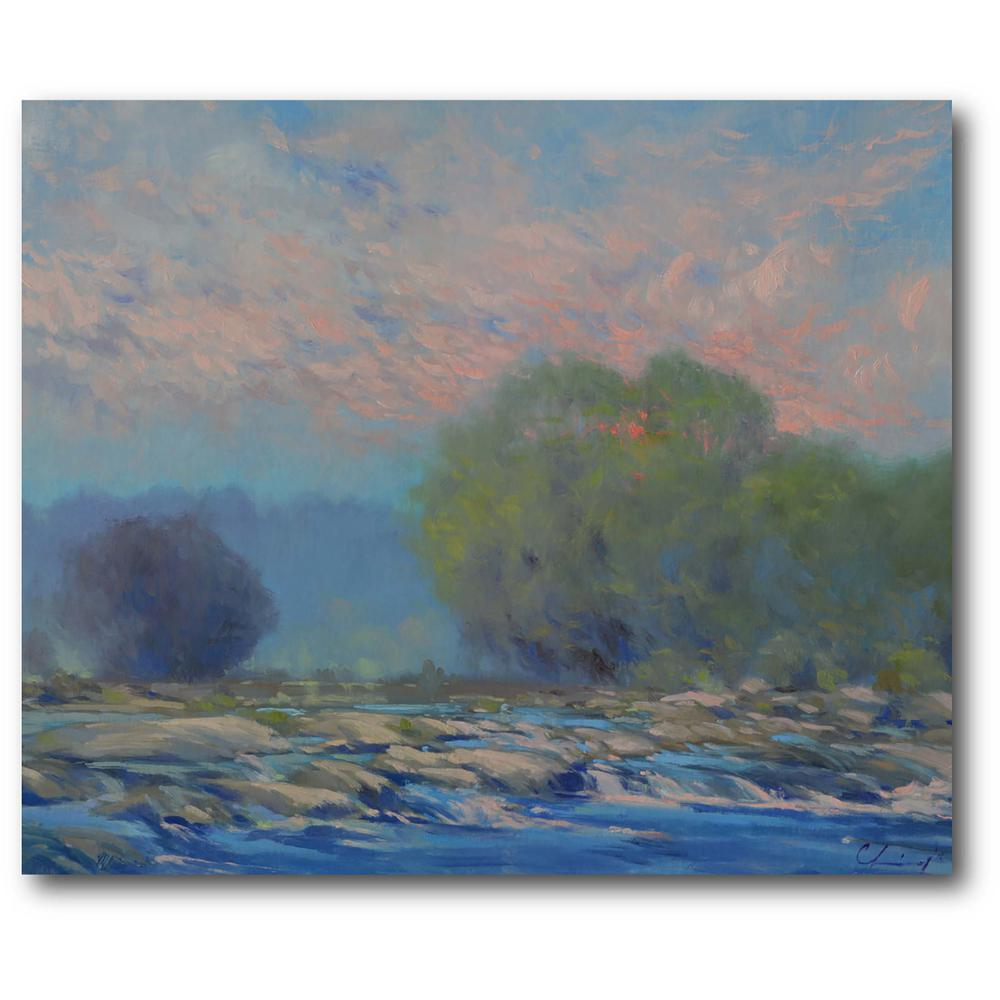 Courtside Market Morning Sky Gallery-Wrapped Canvas Wall Art 20 in. x 16 in., Multi Color was $70.0 now $38.93 (44.0% off)