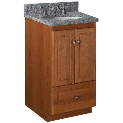 Ultraline 18 in. W x 21 in. D x 34.5 in. H Vanity Cabinet Only in Medium Alder