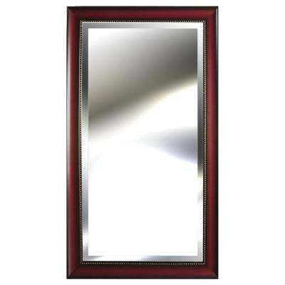 53.8 in. x 29.8 in. Woodtone with Beaded Accent Framed Mirror