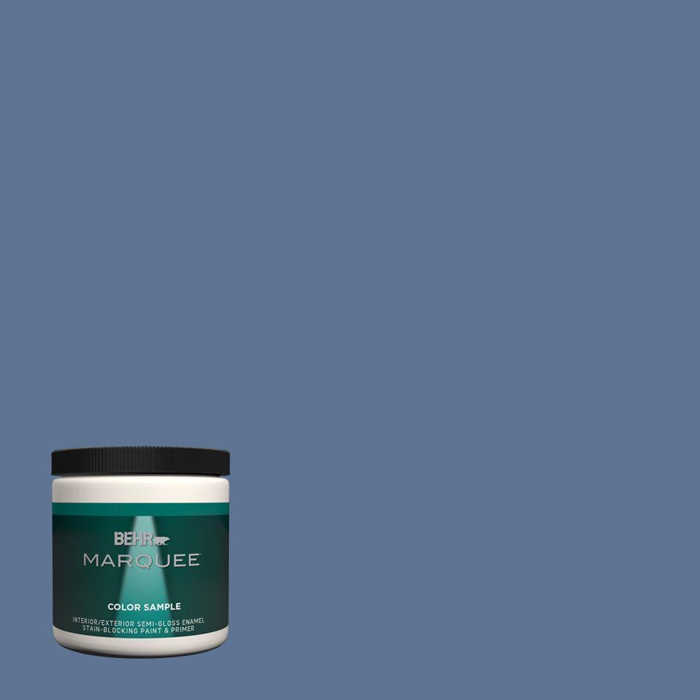 Ppu14 18 Laguna Blue One Coat Hide Semi Gloss Enamel Interior Exterior Paint And Primer In Sample