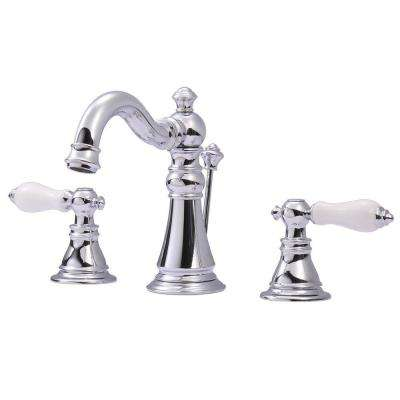 Classic 8 in. Widespread 2-Handle High-Arc Bathroom Faucet in Chrome