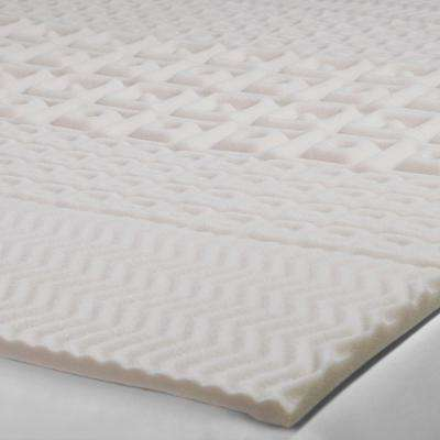 2 in. Queen Foam 5-Zone Mattress Topper