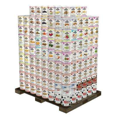4-Person 1-Year Emergency Food Supply Shelter-in-Place Kit 360 Large Cans 30 Year Shelf Life