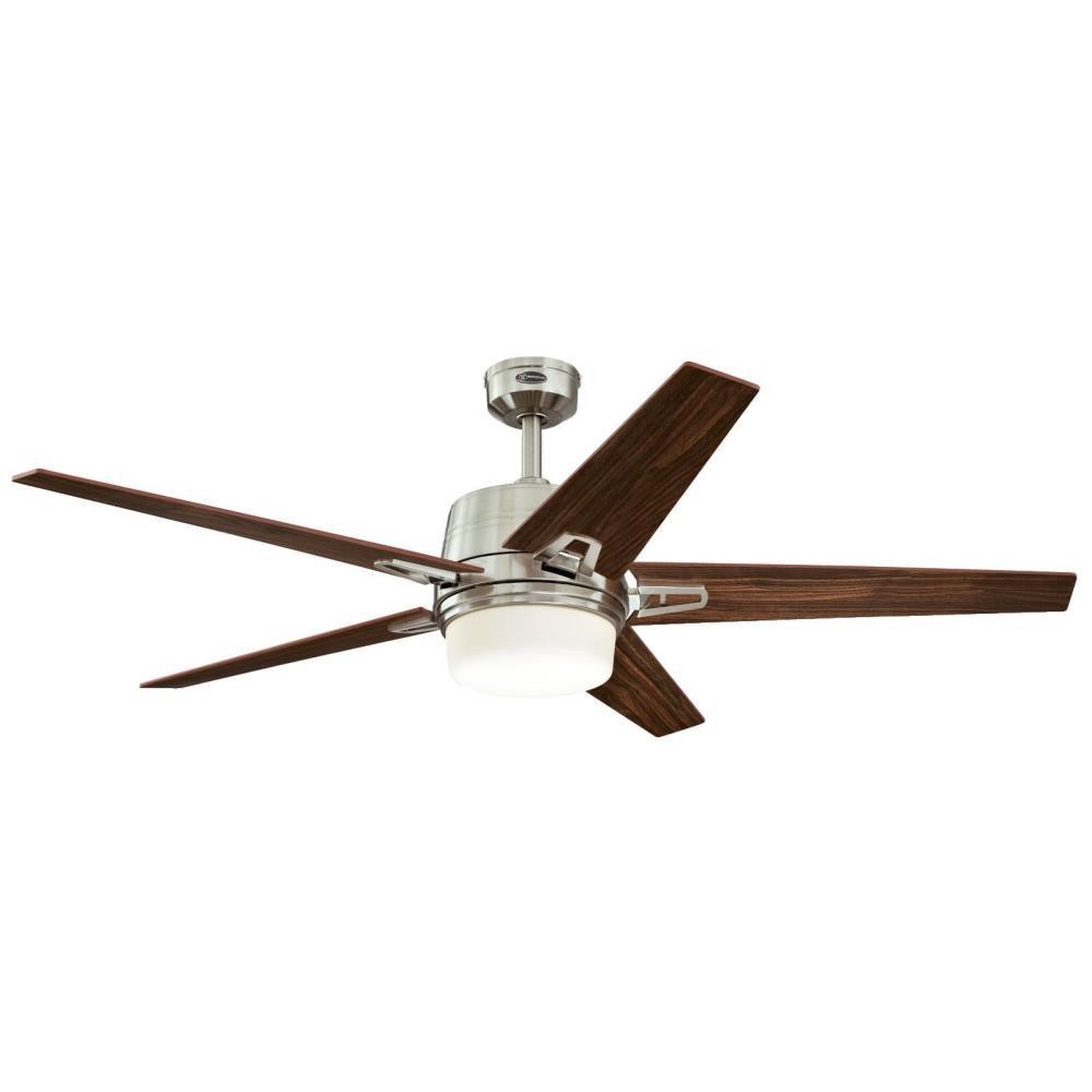 Westinghouse Zephyr 56 In Led Indoor Brushed Nickel Ceiling Fan With Remote Control