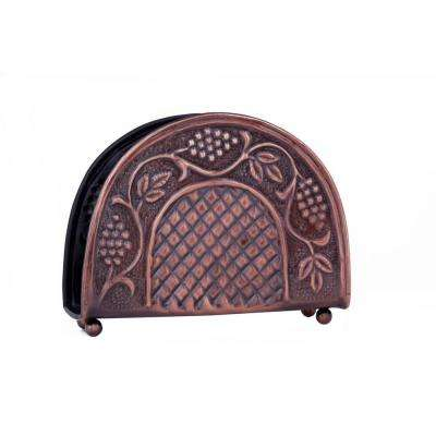 7.25 in. x 2 in. x 5.5 in. Antique Embossed Heritage Napkin Holder