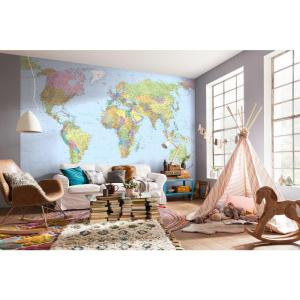 W World Map Wall Mural L4 038 The Home Depot