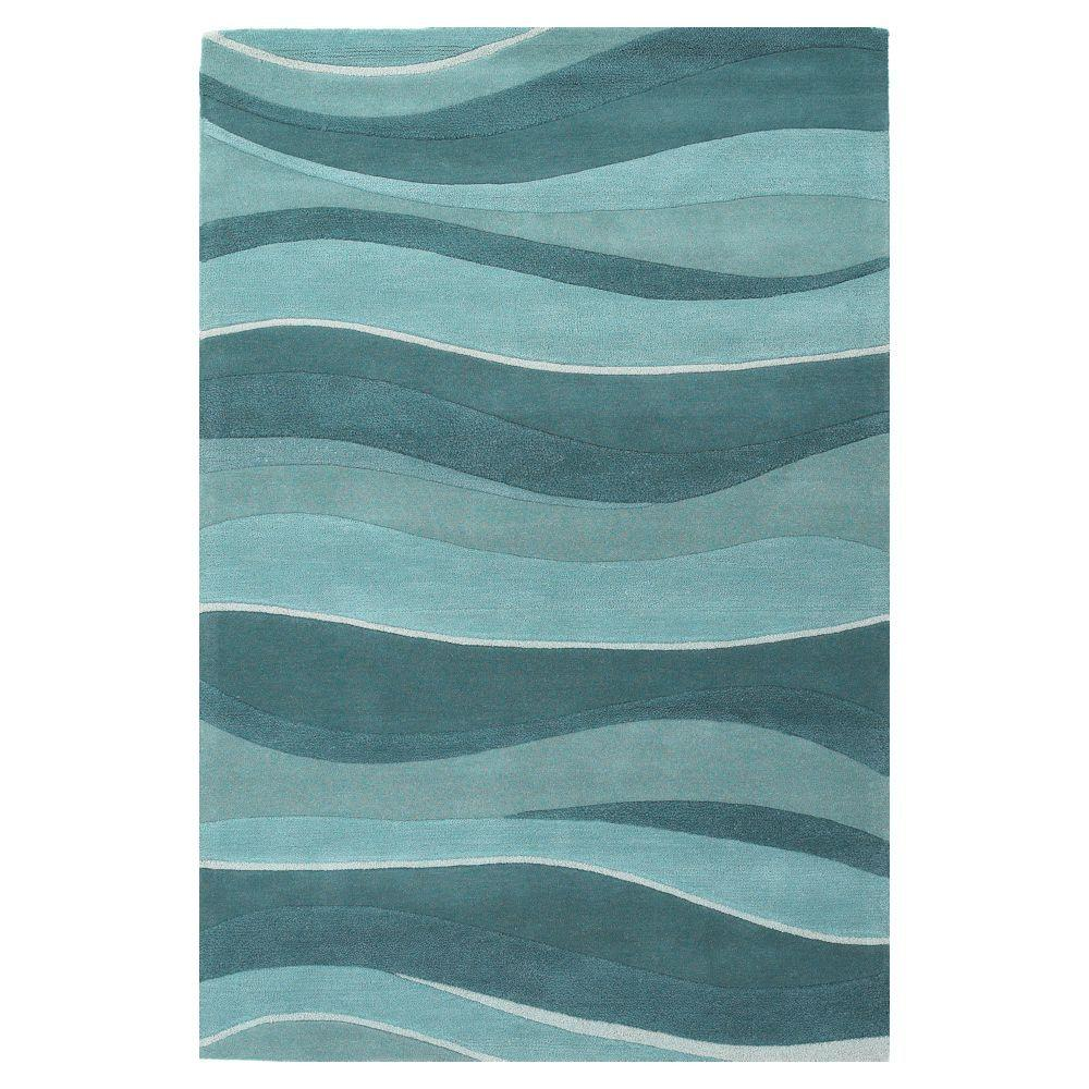 Kas Rugs Water Waves Ocean 5 Ft X 8 Area Rug Ete10535x8 The Home Depot