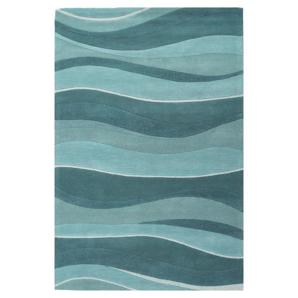 Water Waves Ocean 8 Ft. X 10 Ft. 6 In. Area Rug