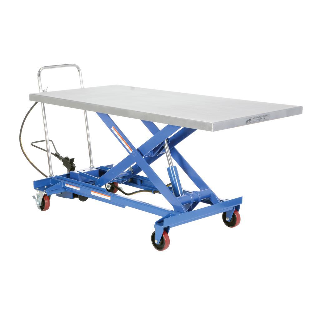 1,000 lb. 34 in. x 70 in. Hydraulic Steel Cart