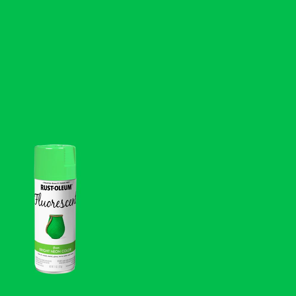 Rust Oleum Specialty 11 Oz Fluorescent Green Spray Paint